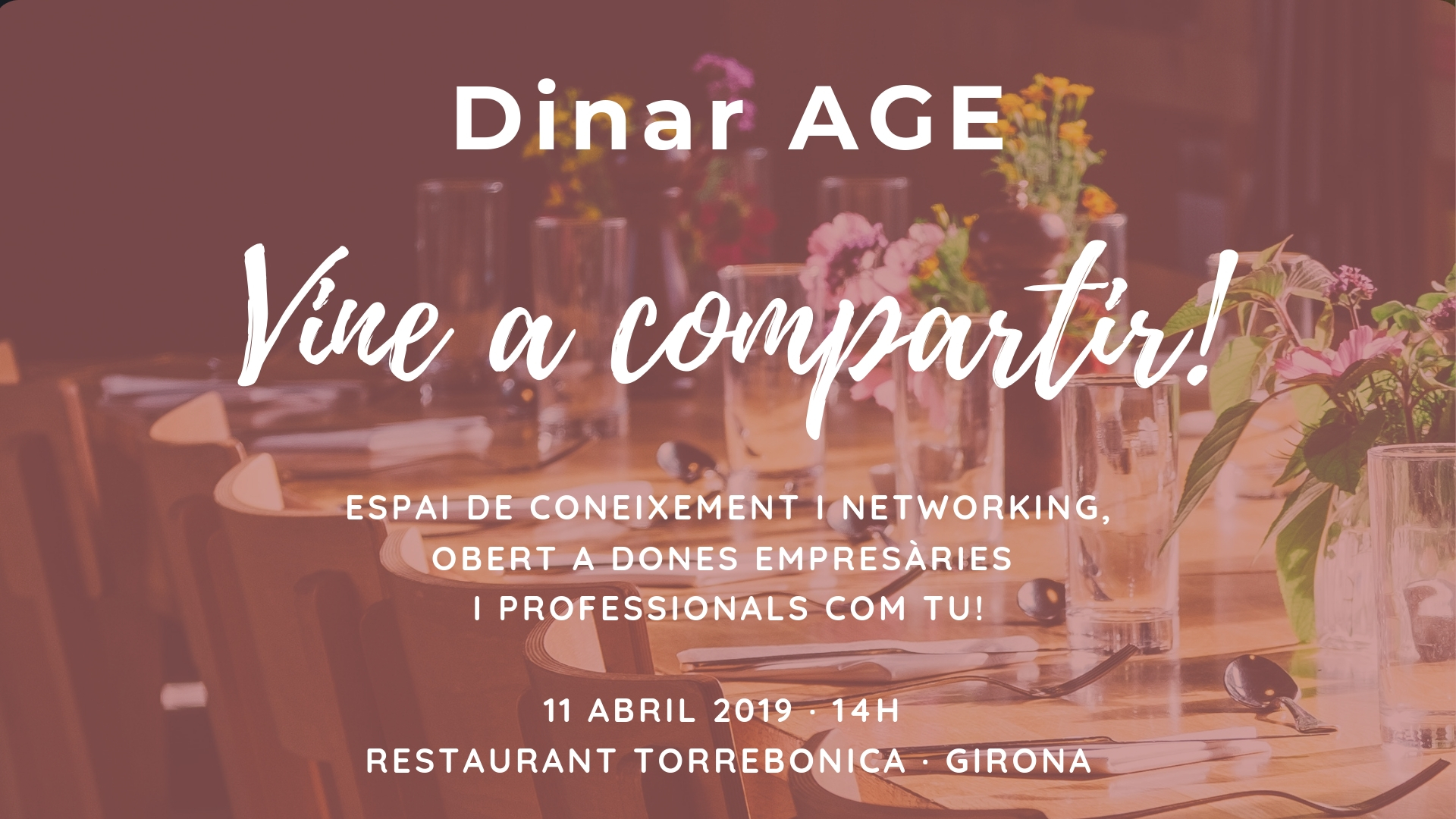 Dinar + networking AGE Girona