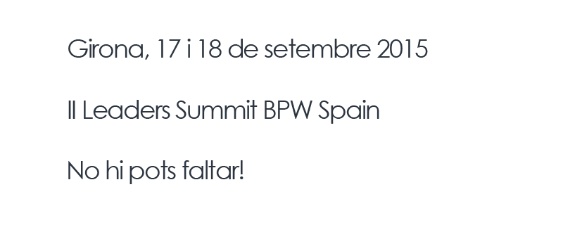 II Leader Summit BPW Spain a Girona