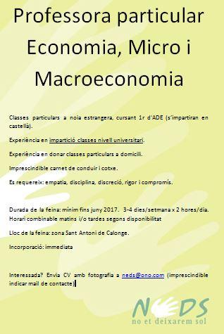 Feina - Professora microeconomia