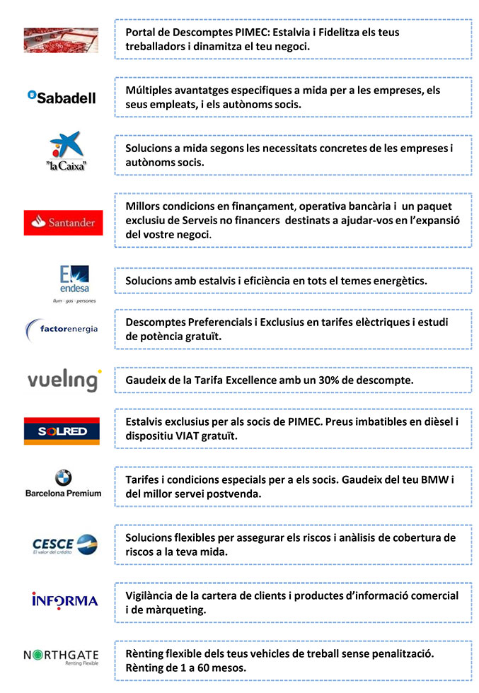 Pimec, acords AGE 2017